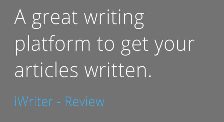 This is a review on 'article writing services reviews'. In this article we review a writing platform called 'iWriter'.