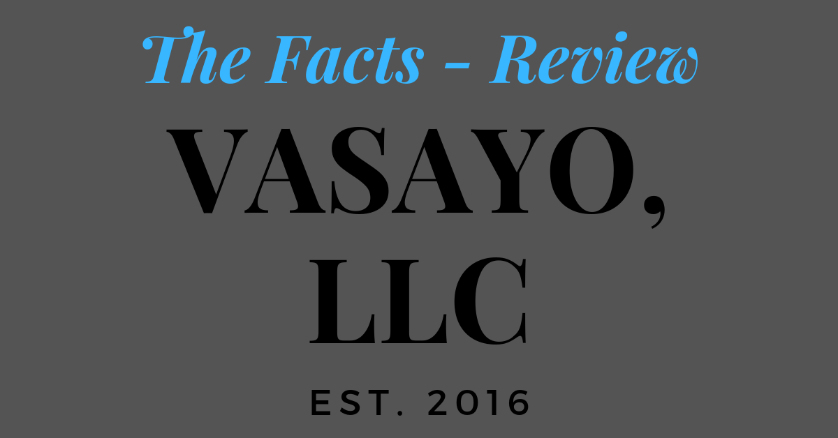 'Vasayo Review'. 'is Vasayo a scam'? come and read my review on this pyramid scheme business.