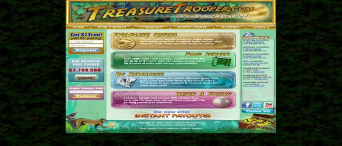 Is Treasure Trooper a reliable way to earn cash and prizes?