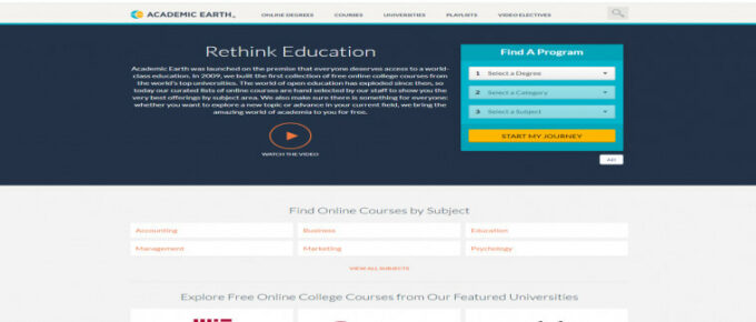 Is Academic Earth a reliable site to learn?