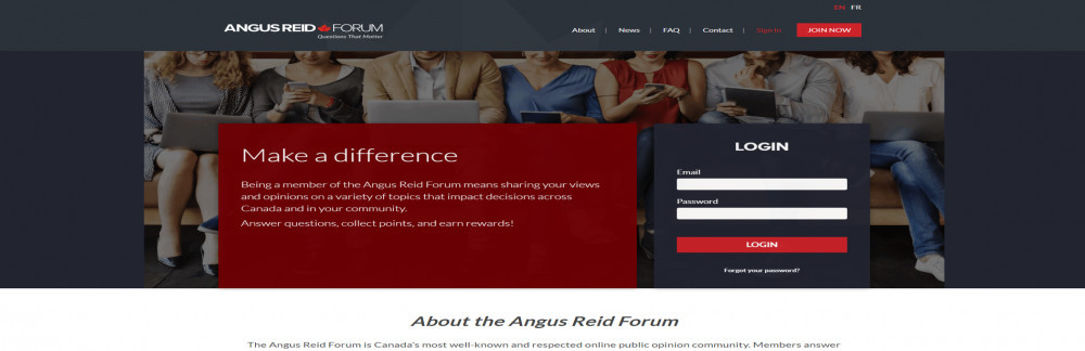 Is Angus Reid Forum a reliable site to earn?
