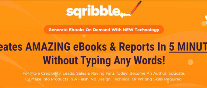 Sqribble Review: What is Sqribble about and is it Legit for making eBooks?