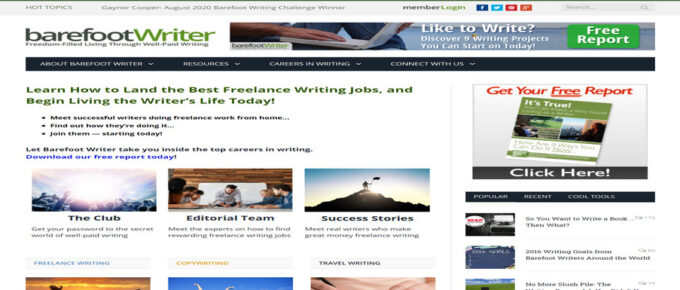 What is The Barefoot Writer and are they Legit? Review