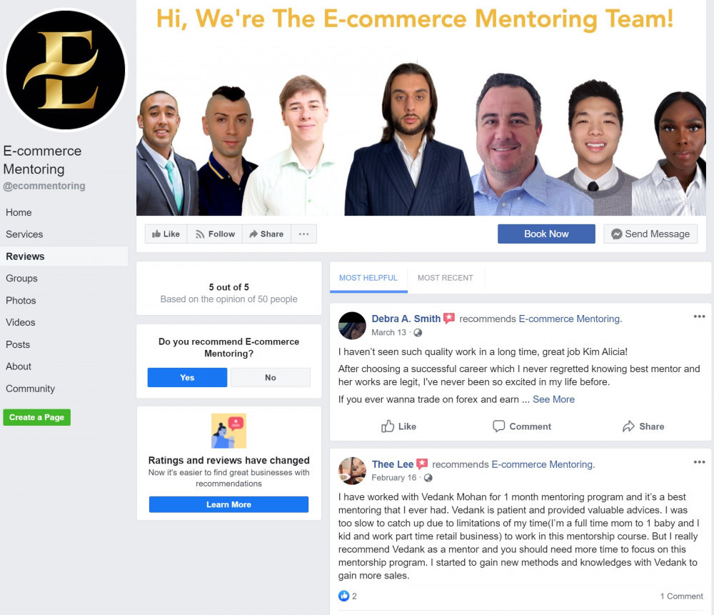 Is E-Commerce Mentoring a reliable site to earn?