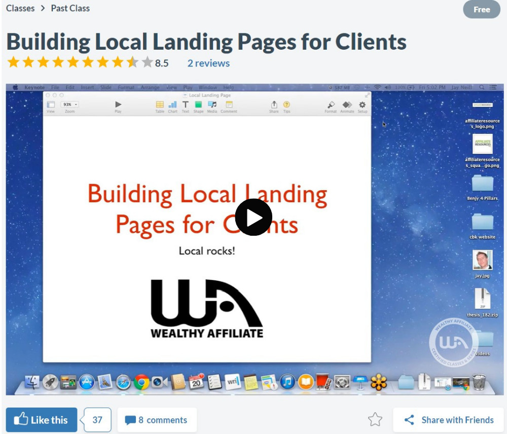 Building local landing pages for small Online Businesses